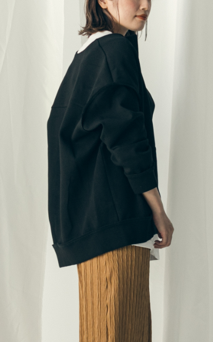 Double knit collarless jacket